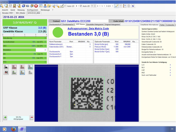 GS1 Data Matrixcode prüfen