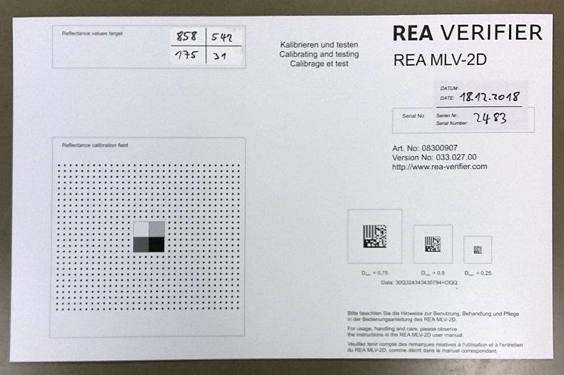 Kalibrierkarte-für-REA VeriCube-und REA-MLV-2D
